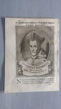 1669 Ritratto Antonio Maria Manzolio Manzoli Manzuoli Vescovo Gravina di Puglia