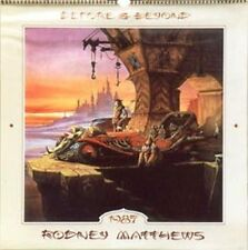 "RODNEY MATTHEWS 1987 ""BEFORE & BEYOND""  CALENDAR, HAND SIGNED"