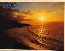 John Wagner Collection Sunset On Kaena Point And Waimea Impact Photo 1977