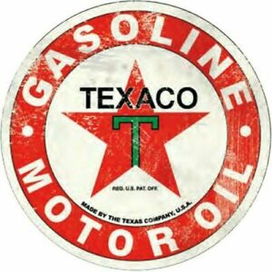 NEW! Texaco Gasoline Motor Oil Metal Sign 12 inch