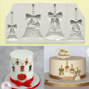 Christmas Bells Silicone Cake Decorating Moulds Chocolate Baking Mold Sugarcraft