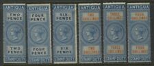 ANTIGUA Stamp Duty revenue stamps six different
