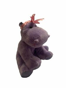 Applause by Russ Purple Hippo with Pink Bow Plush Valentine's Day