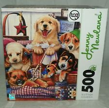Jenny Newland Jigsaw Puzzle Pups and Suds 500 Piece NEW Sure Lox