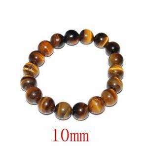 Tiger Eye Bracelet for Men Women Handmade Natural Stone Tiger Eye Beads Bracelet
