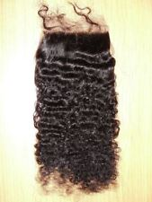 12-inch Virgin Mongolian Tight Afro Kinky Curly Hair Frontal Closure - Natural