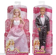 Barbie & Ken Dolls Fairytale Magic Princess Bride & Groom Wedding Dolls New