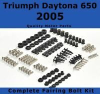 Complete Fairing Bolt Kit body screws fastener for Triumph Daytona 650 2005