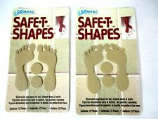 Vintage 1997 Lot Of 2 Safe-T-Shapes Anti Slip Bathtub TAN Feet NOS MADE IN USA