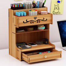 Desktop Desk Organizer Storage Rack Brush Container Office Pencil Holder Pen