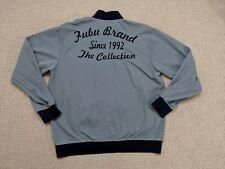 VINTAGE FUBU Jacket Men Large Blue Gray The Collection Full Zip Coat Rap Hip Hop