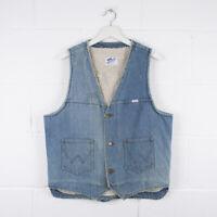 Vintage WRANGLER Blue Lined Denim Jacket Gilet Size Mens Medium /R57037