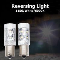 2X Light Bulbs P21W Led, 1156 BA15S, Car Reverse Back brake stop Tail 12v White