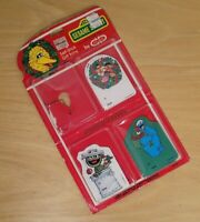 Vintage 1980s Sesame Street Christmas Gift Tags Opened Package NOS 9 Pcs Holiday