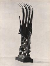 TRIBAL. Male antelope horns, Bougouni region. French Sudan. Mali 1947 print
