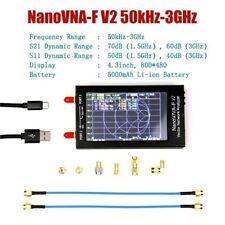 50khz-3ghz Nanovna-f V2 VNA Network Antenna Analyzer UHF HF VHF 5000mah Battery
