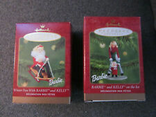 Hallmark Barbie Ornaments - Winter Fun & On the Ice Barbie and Kelly 2000 & 2001