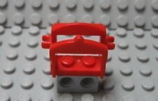 LEGO Minifig Animal Red HORSE SADDLE with Two Clips Knight Cowboy