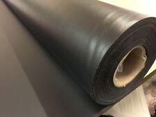 TOUGH BLACK WATERPROOF REINF PVC FABRIC UV ROT RESIST TARP BOAT COVER !