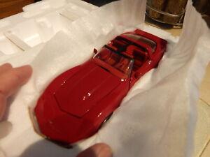 New 1/24 Franklin Mint Dark Claret Red and Silver 1982 Corvette T ...