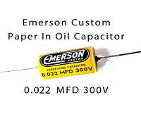 1 Emerson Paper in Oil Capacitors - 0.022uf 300v (yellow) 2019 Classic