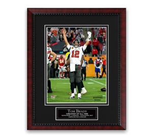 Tom Brady Tampa Bay Buccaneers Super Bowl LV Photo Custom Framed to 11x14