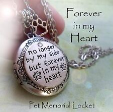 Pet Memorial Locket * No longer by my side but forever in my Heart, dog cat love