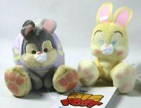 "Disney Easter Egg Thumper & Miss Bunny Tiny Big Feet Micro Plush 4"" Holiday"