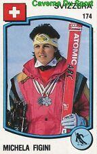 174 MICHELA FIGINI SUISSE SKI STICKER SUPERSPORT 1988 PANINI RARE & NEW