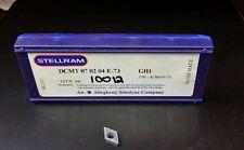 STELLRAM DCMT 07 02 04 E-73 GH1 NEW Carbide Inserts 3 pcs