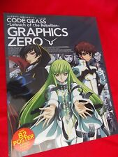 "CODE GEASS Lelouch of the Rebellion GRAPHICS ZERO BOOK 12""X9"" / 32 PAGES UK DSP"