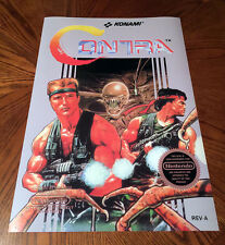 "Contra NES box art retro video game 24"" poster print nintendo 80s alien shooter"