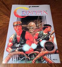 "Contra NES box art retro video game 24"" poster print nintendo 80s alien shooter"