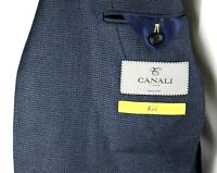 NWT $1595 CANALI 1934 Woven Navy Silk Wool Unstructured Kei Jacket Coat 44 L