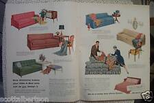 WESTMORELAND GLASS SIMMONS SOFAS   ADS  1956 1950s furniture