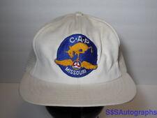 Vintage 1980s CIVIL AIR PATROL MISSOURI C.A.P. Collectible MILITARY SNAPBACK HAT