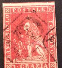 Italy Grand Duché N° 12 1 Craqua Rouge Obli  Beau T B D'aspect Côté 200€