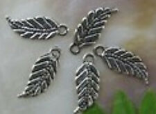 FREE SHIP 30PCS tibet silver leaf charms Pendants 18X7MM JK0675