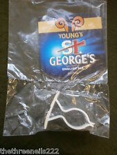 NEW BEER PUMP CLIP - YOUNG'S ST GEORGE ENGLISH ALE (WITH FITTING CLIP)