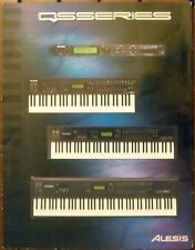 Alesis Color QS Series Tri-Fold Brochure: QS6.1 QS7.1 QS8.1 Keyboards QSR Rack