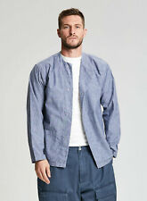 Nigel Cabourn Prisoner Shirt in Denim Blue - Various Sizes