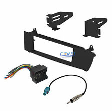 Car Radio Stereo Single DIN Dash Kit Wire Harness Antenna for 2004-2010 BMW X3