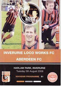 Inverurie Loco Works v Aberdeen 5 Aug 2008 Craig Ross Testimonial