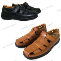 Men's Dress Sandals Closed Toe Straps Huaraches Fisherman Slip-on Casual Shoes