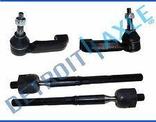 All (4) Inner & Outer Tie Rod End Link Kit for Dodge Nitro Jeep Liberty