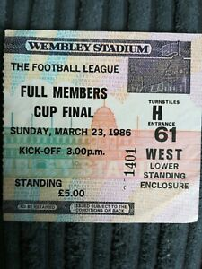 1986 Full Members Cup Final - Chelsea vs Manchester City