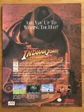 Indiana Jones Greatest Adventures SNES 1994 Nintendo Poster Ad Art Harrison Ford