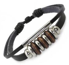 A105 Lederarmband Surfer Armband LEDER Damen Herren Leather Bracelet Biker Rock