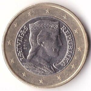1 Euro 2016 Latvia Coin KM#156