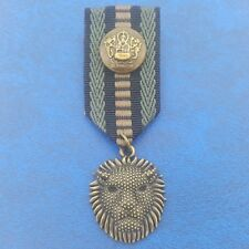 Medal Coin Vintage Ribbon Badge Medals King Lion Wild Animal Golden Paper Brooch